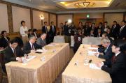 Caption:President Takagi at the Press Conference