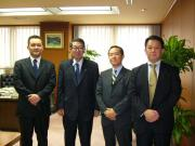 Japan MacDonald Workers' Union Executives with President Takagi