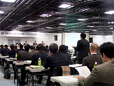 Photo: Opinions were actively exchanged. (Asia-Pacific Import Mart, Jan. 27)